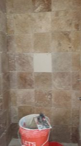 172 Progress pics of new tile shower job in Glen Allen 6-13-14