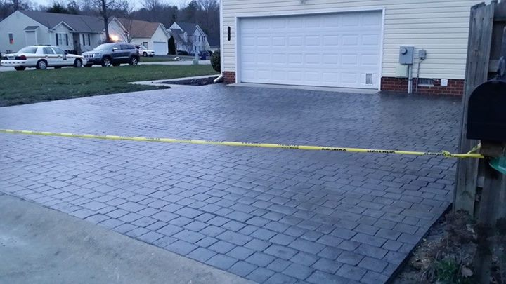 37-Before-and-after-Pics-of-Stamp-concrete-Driveway-project-with-Cobble-Stone-Pattern-in-Ashbrook-Sub-I