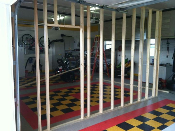 37 Partition wall in garage in Powhatan started12-5-11