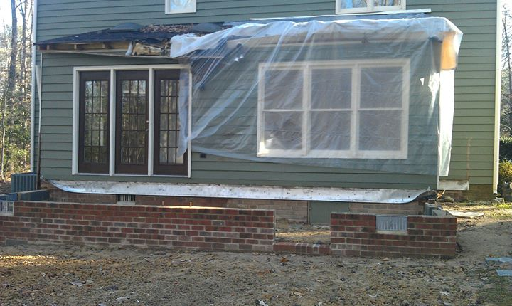 49 Demo of addition and expansion of sunroom starting today11-30-11 in chesterfield