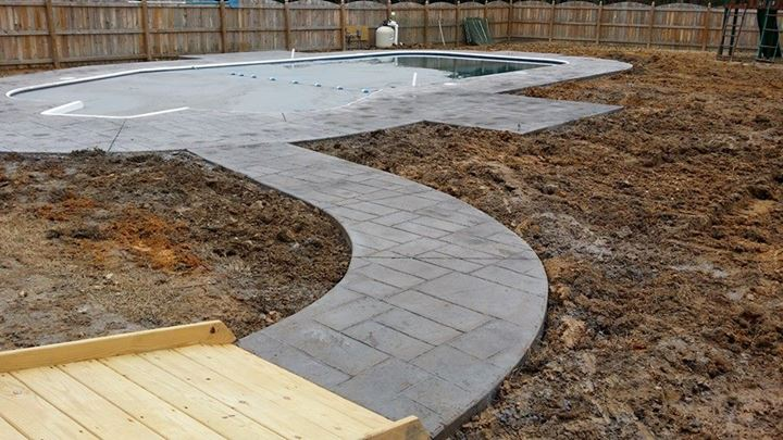5-Stamp-concrete-around-pool-sliding-board-and-diving-board-install-in-the-West-End-progress-Pics-2-2