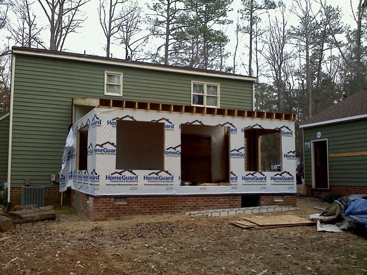 61 Addition comming along,windows and doors tommow