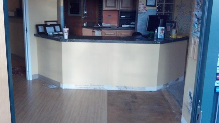 8-Dentist-Office-renovation-underway-in-Midlothian-Va-New-floors-paint-base-trim-Granite-counter-t