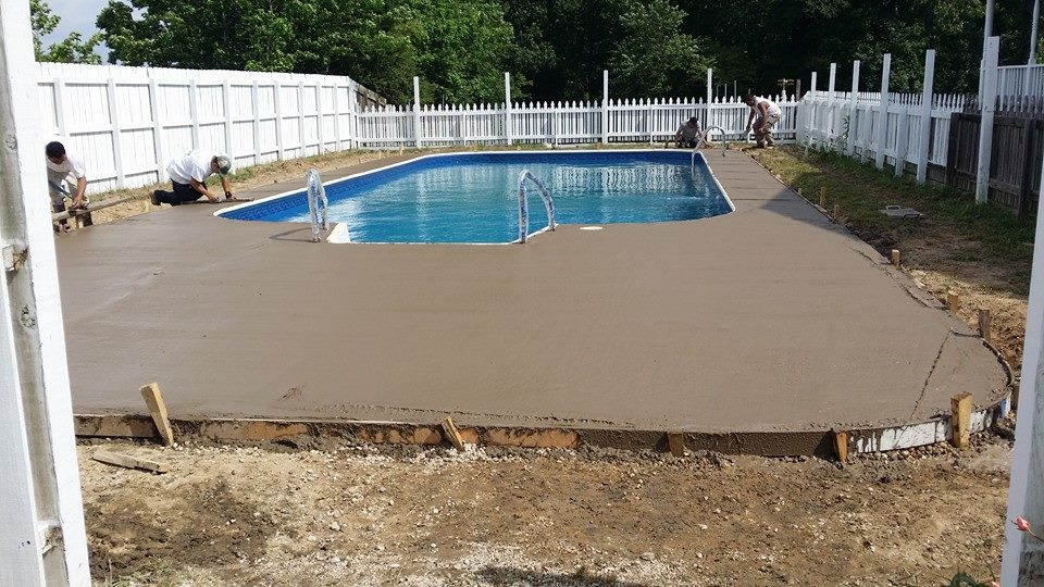 bull nose & pavers for a pool [before & after] | a notch above